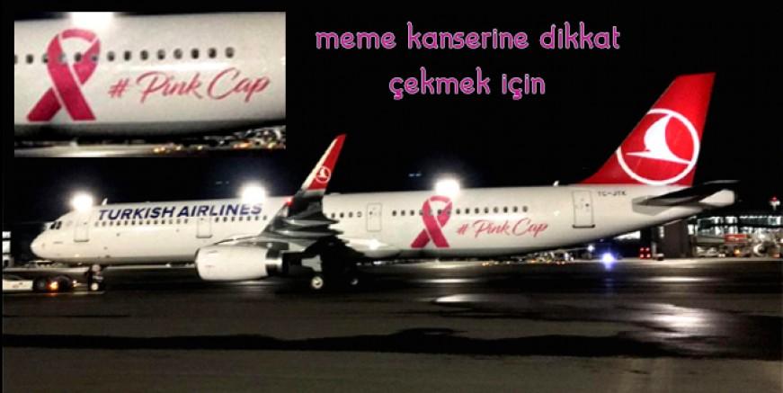 "THY UÇAĞINA ""PİNK CAP"" GİYDİRMESİ"