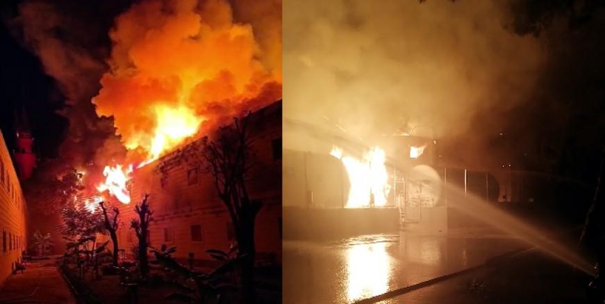 Torba'da  beş yıldızı otelde LPG tankları patladı binalar yandı