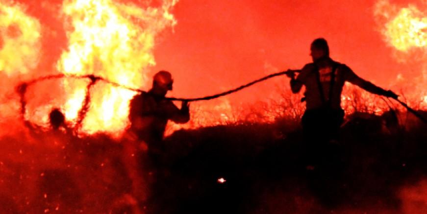 Turgutreis, Akyarlar, Bala sabaha kadar alev alev yandı 55 hektar kül oldu