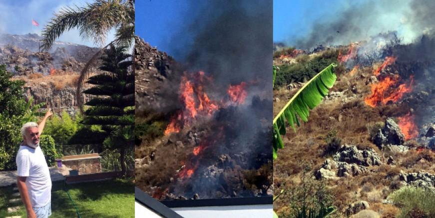 Turgutreis'te yangın kabusu yaşattılar, büyüyor, iki kişi kundakladı iddiası