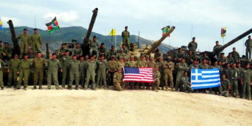 Türk sınırına yakın bölgede Yunanistan -ABD tanklarıyla tatkibat yaptılar