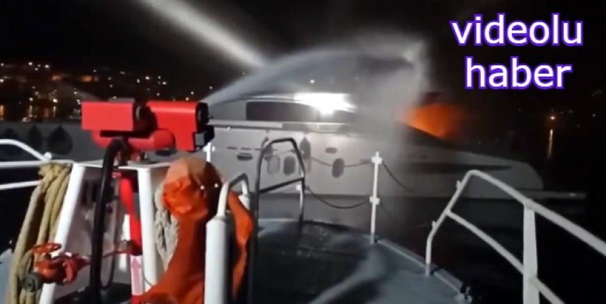 Türkbükü'nde yanan motor yattaki personel son anda kurtarıldı