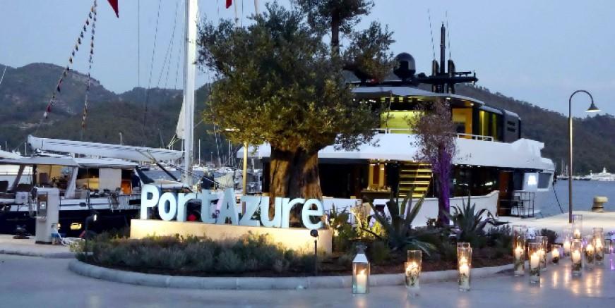 Türkiye'nin ilk megayat marinası Port Azure Göcek'te açıldı