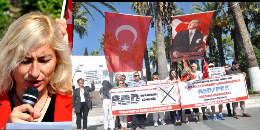 VATAN PARTİLİLERDEN TRUMP' A PROTESTO MEHMETÇİĞE DESTEK