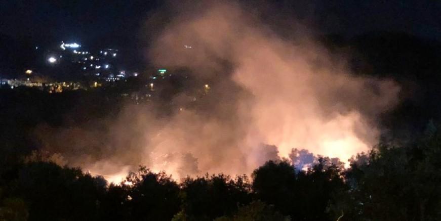 Yalıkavak Dirmil  Mevkiinde çıkan yangın rüzgarın etkisiyle büyüyor