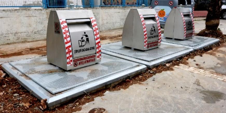 Yer altı çöp konteynırları yerleştirilmeye başlandı
