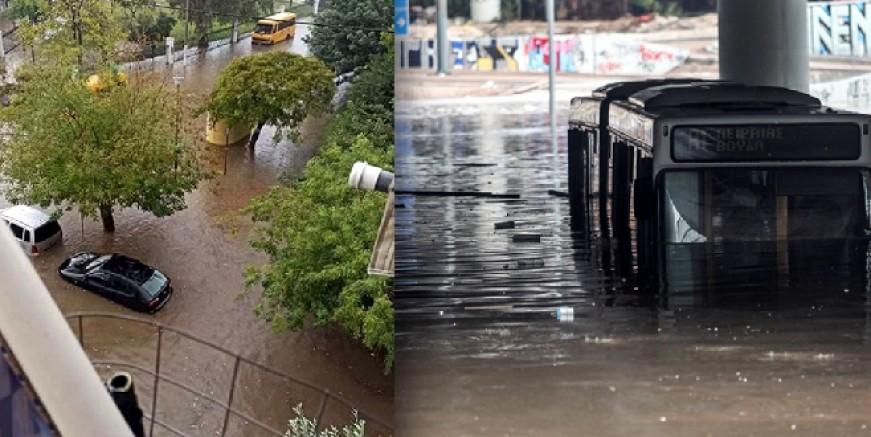 Yunanistan'ı Ballos vurdu. Onlarca ev ve işyeri sular altında kaldı