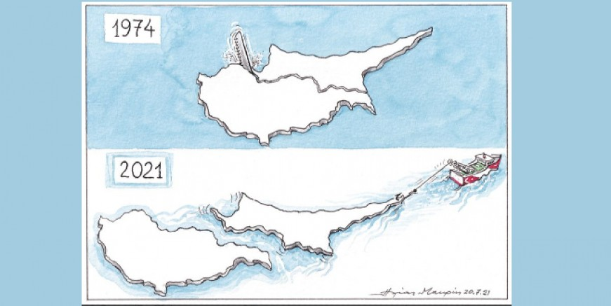 Yunanistan'ın KKTC sancısı karikatüre yansıdı