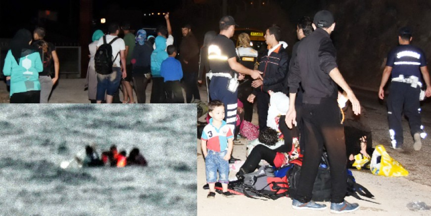 Yunanlılar göçmen botunu patlattı iddiası...1 göçmen öldü