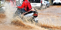 Bodrum'da sağanak yağış